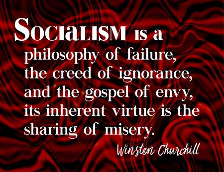 ウィンストン ・ チャーチル (1874 年-1965 年)、第二次世界大戦中にイギリスの総理大臣によって引用社会主義。  イラスト・ベクター素材