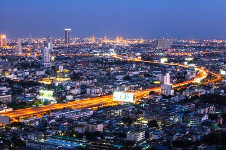 bangkok NIGHT: Bangkok night bird eye view