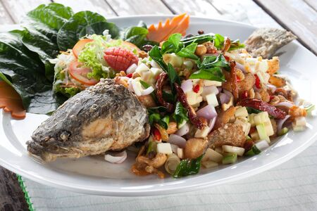 snakehead: Deep Fried snakehead Fish with Thai Herb
