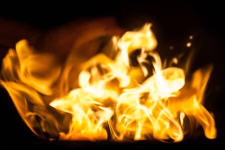 blaze: blaze of fire isolated on black ground