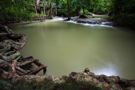 Beautiful Waterfall on rainy season on Than Bok Khorani national park in Thailand. Than Bok Khorani Waterfall.