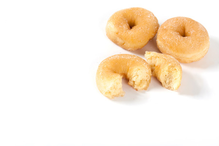 Donut isolated on white background with space for copy. Stok Fotoğraf
