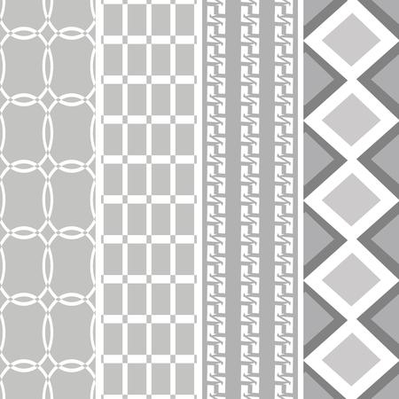 fekete-fehér: black white pattern four style