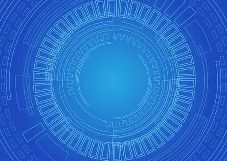 technology background: abstract circle technology background