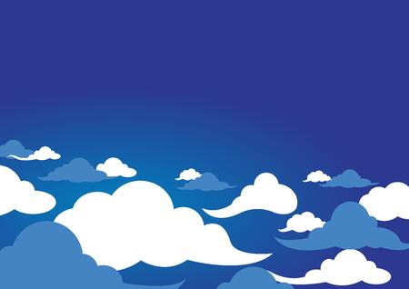 clouds design over sky background illustration