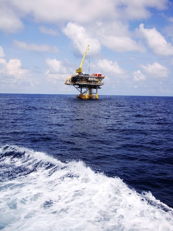 Offshore Oil y la Plataforma de Producci�n de Gas photo