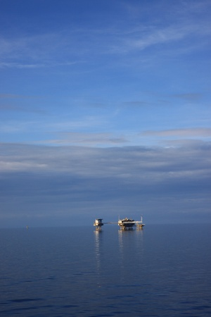 well platform: Offshore Oil and Gas Central Production Platform