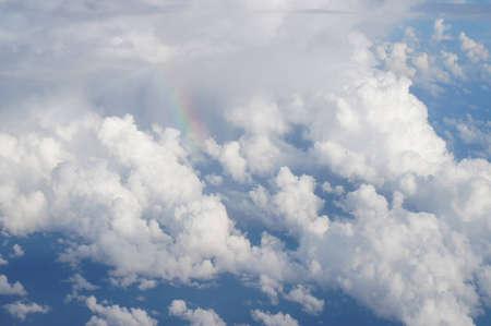 Cielo azul y nubes tomadas desde avi�n photo