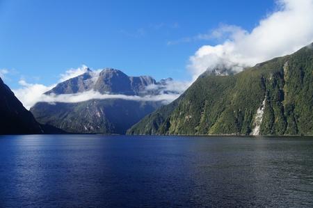 fiordland: Milford Sound in New Zealand