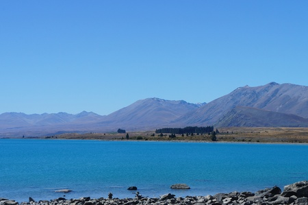 tekapo: Lake Tekapo Newzealand                Stock Photo