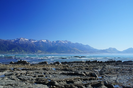 kaikoura: Nice Coast at Kaikoura, South Island of New Zealand