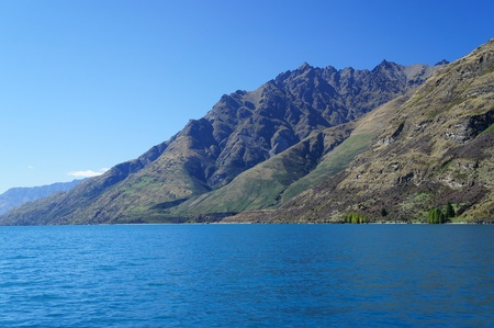 Lake Wakatipu, South Island of Newzealand photo