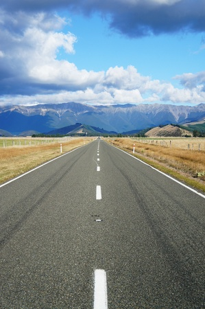 Country Road - Highway 63 - Newzealand photo
