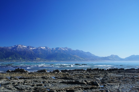 new scenery: Nice Coast at Kaikoura, South Island of New Zealand         Stock Photo