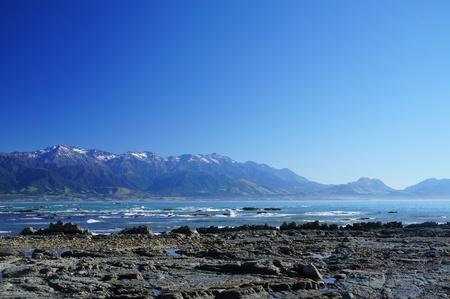 kaikoura: Nice Coast at Kaikoura, South Island of New Zealand         Stock Photo