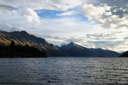 Beautiful Lake and Mountains - Queenstown New Zealand       photo