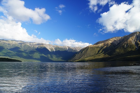 nelson: Nelson Lake in New Zealand on Sunny Day