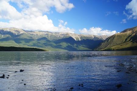 nelson: Beautiful Nelson Lake in New Zealand Stock Photo