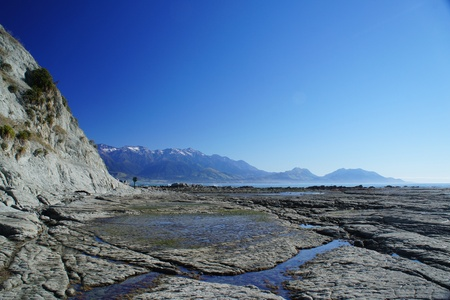 Nice Coast at Kaikoura - South Island of New Zealand