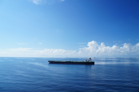 nautical vessels: Offshore Tanker on Sunny Day