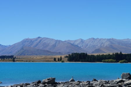 Beautiful Lake Tekapo Newzealand photo