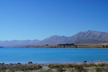 Mountain Cook with Lake Pukaki - beautiful view of New Zealand mountains Stock Photo - 14851978