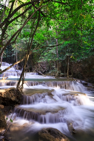 Waterfall landscape in deep forest of Thailand photo