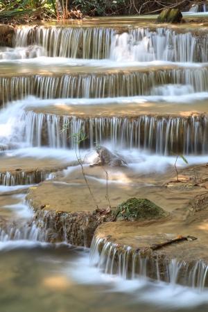 torrent: Close Up Waterfall in Kanchanaburi, Thailand