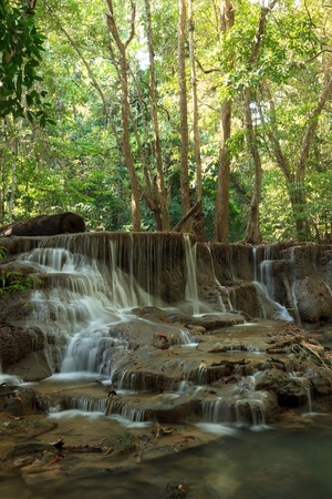 woodland scenery: Beautiful Muti Layer Waterfall Deep Forest in Thailand