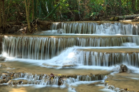 multilayered: Multi-layered Waterfall in Thailand