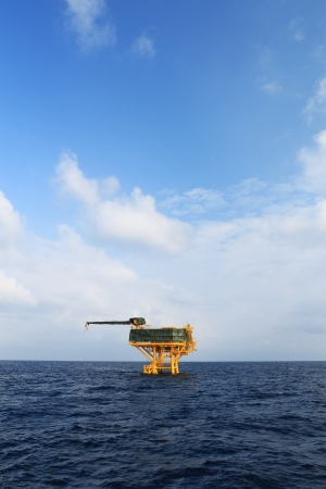 Offshore Production Platform in the Middle of Ocean for Oil and Gas Production photo