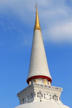 Old Thai style pagoda at Wat Mahathat temple, Nakhon Si Thammarat ,Southern of Thailand