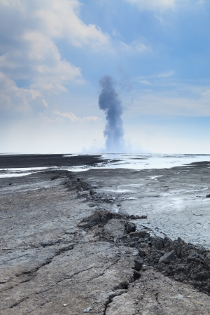 blow out: Sidoarjo mud flow blowout  Lapindo mud  in Indonesia
