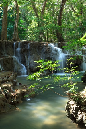 multilayered: Beautiful Multi-layered Waterfall in Thailand Stock Photo