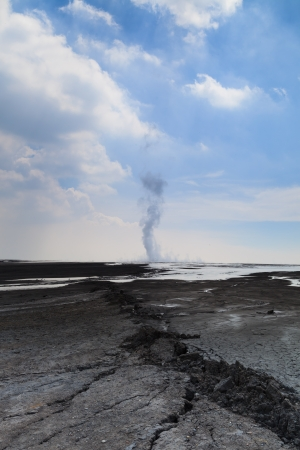 catastrophic: Sidoarjo mud flow blowout  Lapindo mud  - Catastrophic Oilfield Incident in Porong, Sidoarjo in East Java, Indonesia