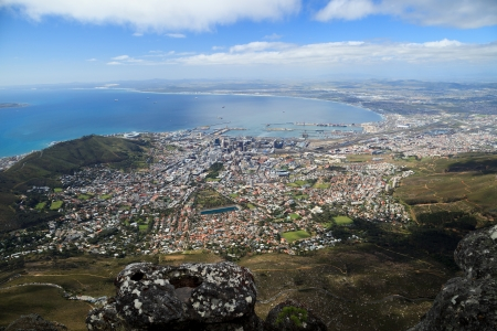 cape town: Aerial view of Cape Town from Table Mountain, South Africa