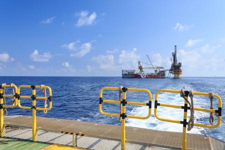 drilling platform: Tender Drilling Oil Rig  Barge Oil Rig  on The Production Platform