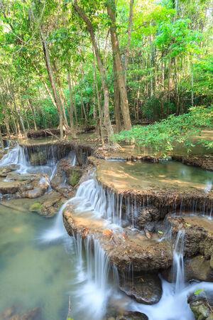 huay: Deep forest Waterfall in Kanchanaburi  Huay Mae Kamin , Thailand