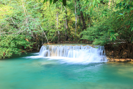 huay: Deep forest Waterfall in Kanchanaburi (Huay Mae Kamin), Thailand