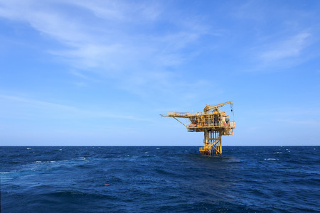 offshore: Three Legged Oil and Gas Production Platform