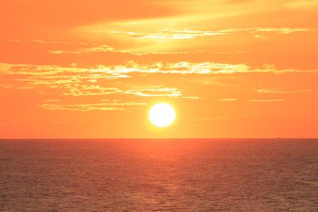 Big Sun on sunset