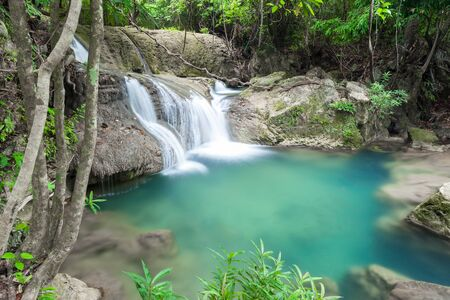 kamin: Beautiful Waterfall in Kanchanaburi (Huay Mae Kamin), Thailand