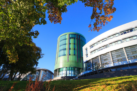 lapse: ABERDEEN SCOTLAND - 21 DECEMBER 2015 The Robert Gordon University (RGU) in Aberdeen time lapse footage. RGU is one of  the UKs top Universities in oil and gas industry. Editorial