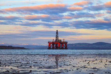 driller: Semi Submersible Oil Rig at Cromarty Firth in Invergordon, Scotland