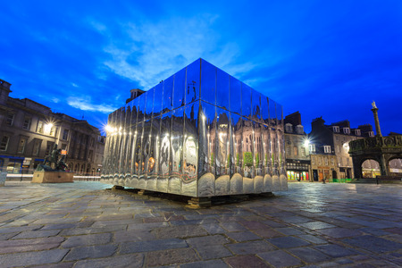 mirrored: ABERDEEN - MAY 27, 2016: The Mirrored Pavillion in the Castle Gate for Visual Art and Design Festival in Aberdeen, Scotland on 27th May 2016
