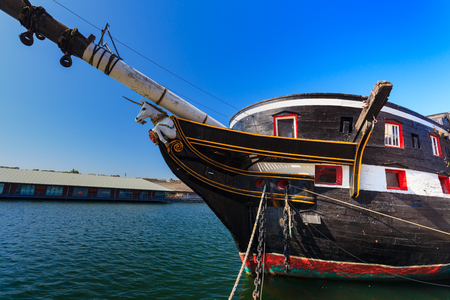 frigate: HM Frigate Unicorn in Dundee, Scotland, UK