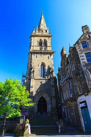 DUNDEE – JUNE 5, 2016: Church of Scotland Saint Andrews Parish Churchon on Sunny in Dundee Scotland on 5th JUNE 2016 Editorial