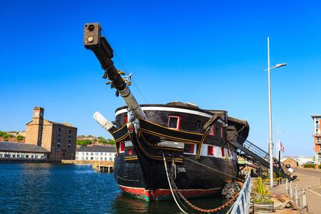 dundee: HM Frigate Unicorn in Dundee, Scotland, UK