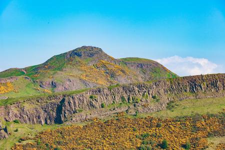 arthur: Edinburgh mountains -  Arthur Seat, Salisbury Crags, Holyrood Park Stock Photo