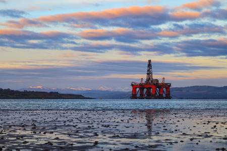 buoyancy: Semi Submersible Oil Rig at Cromarty Firth in Invergordon, Scotland